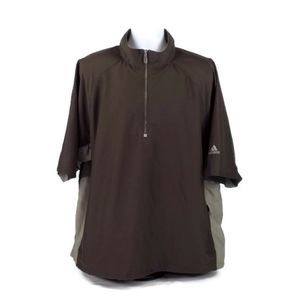 Adidas Climashell Brown Short Sleeve Golf Jacket